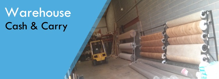 Surefit Carpets offer a cash and carry service at our warehouse